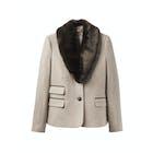 Joules Wiscombe Faux Fur Collar Women's Tweed Jackets