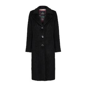 Creenstone Long Length Wool Womens Bunda - Black