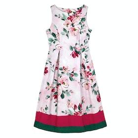 Cath Kidston Paintbox Flowers Cotton Sateen Dress - Light Pink