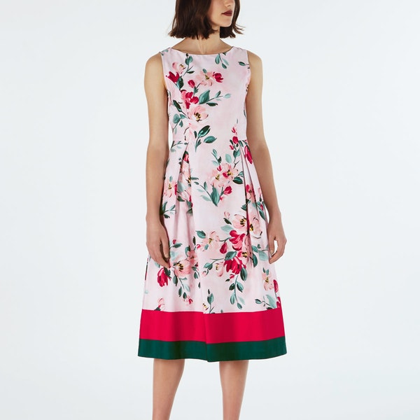 Cath Kidston Paintbox Flowers Cotton Sateen Dress