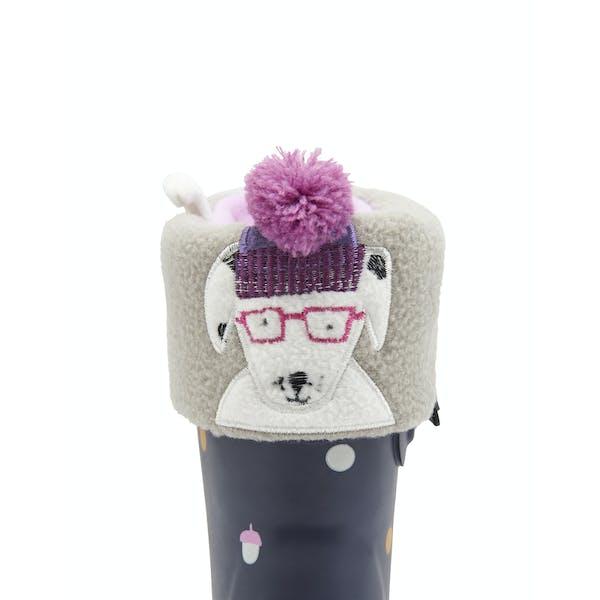 Joules Smile Character Girl's Wellingtons Socks