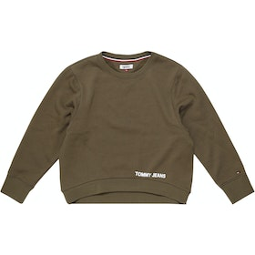 Tommy Jeans Clean Logo Women's Sweater - Military Olive