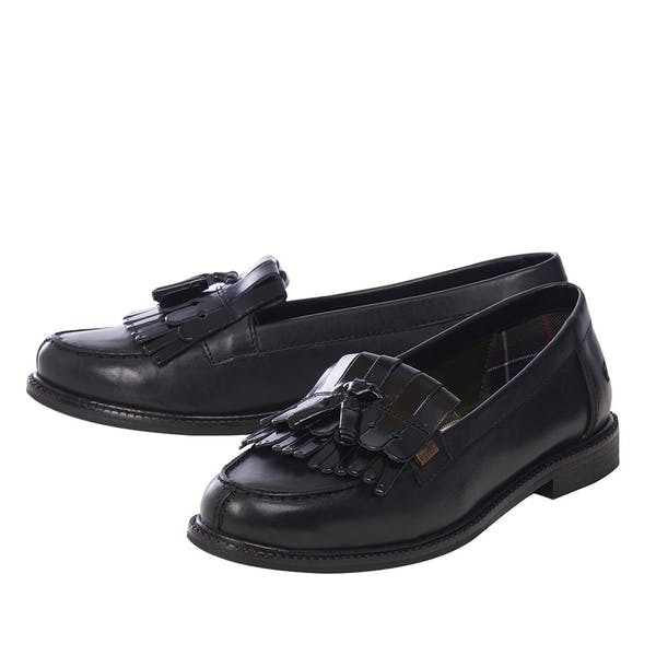 buy sale various design wholesale online Barbour Olivia Tassel Loafers Women's Slip On Shoes - Black Salg ...