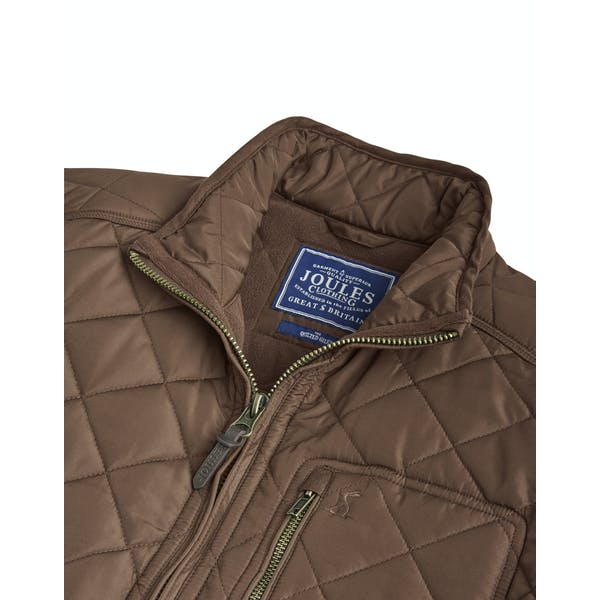 Joules Derwent Long Length Quilted Heren Jas