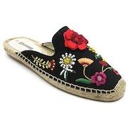 Soludos Embellished Floral Mule Espadrilles