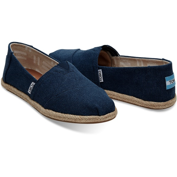 authorized site new lifestyle best authentic Toms Alpargata Washed Women's Espadrilles - Navy Washed ...