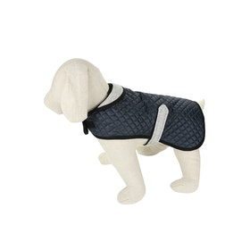 Country Attire Marty Dog Jacket - Navy Navy Herringbone Silver Grey