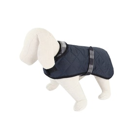 Country Attire Marty Dog Jacket - Navy Navy Silver Check