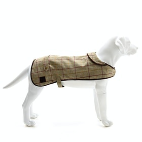 Country Attire Tweed Dog Jacket - Olive-925