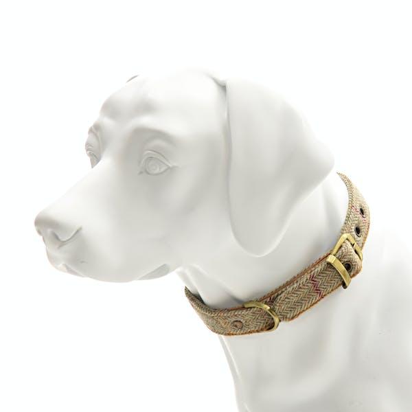 Country Attire Tweed Dog Collar with Buckle Dog Collar