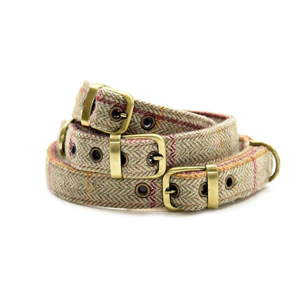 Country Attire Tweed Dog Collar with Buckle Halsbånd til Hund