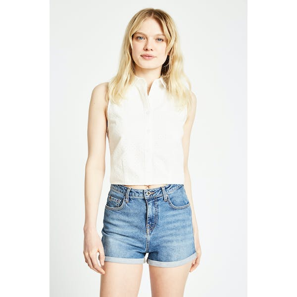 Jack Wills Laumann Tie Back Women's Short Sleeve Shirt