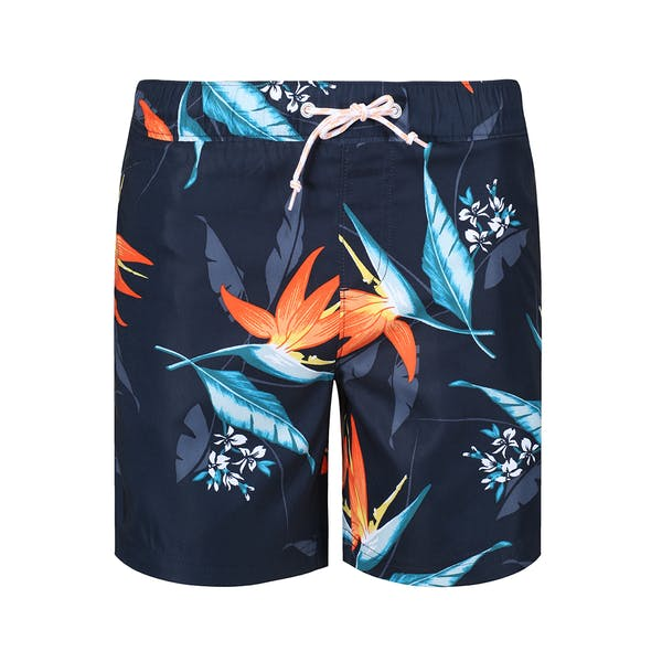 Penguin Tropical Hydro Print Elastic Volley Męskie Spodenki