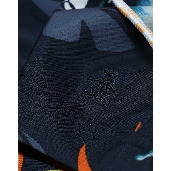 Penguin Tropical Hydro Print Elastic Volley Men's Shorts