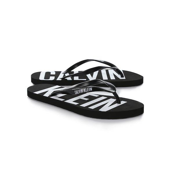 hot sale online c2ef4 6b13c Calvin Klein FF Sandal Damen Sandalen - Black Verkauf bei ...