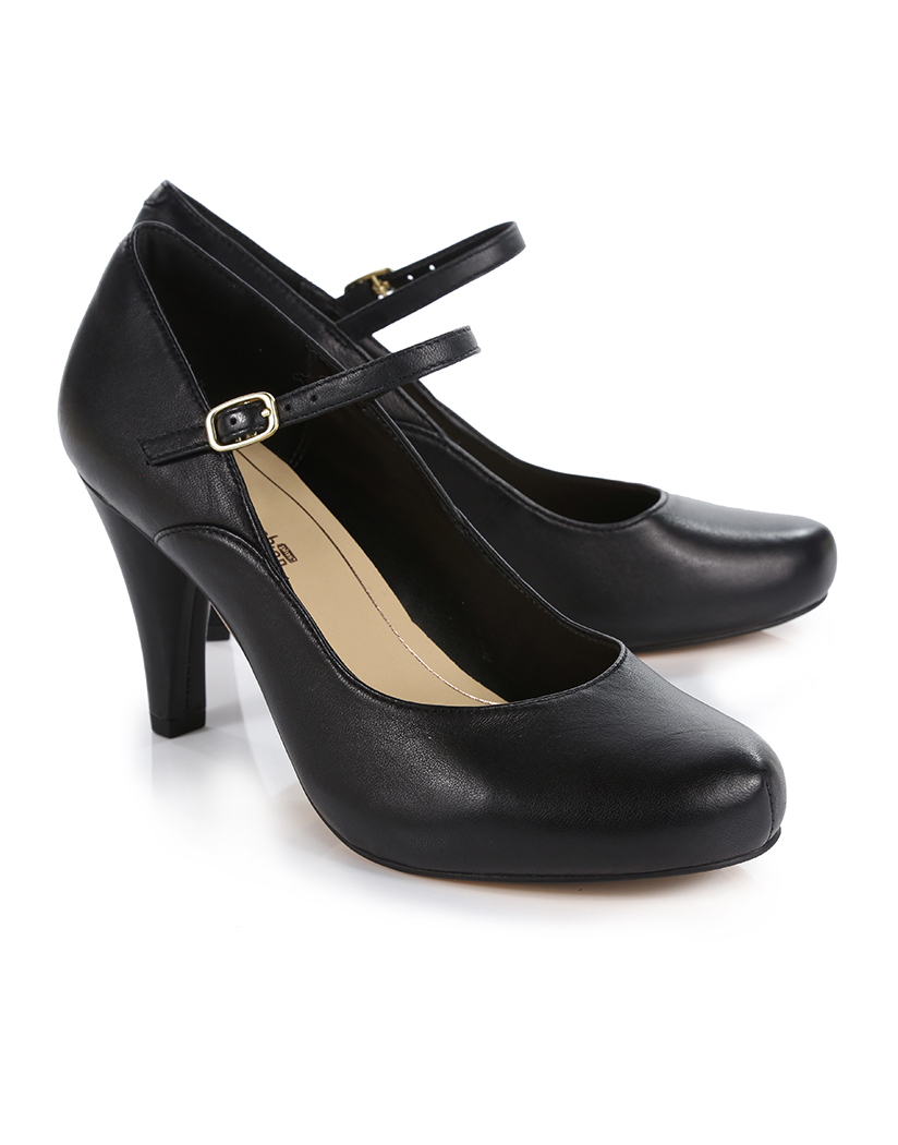Clarks Dalia Lily Shoes - Black Leather