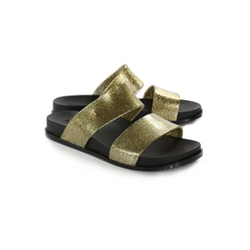 Melissa Cosmic Damen Sliders - Gold Glitter