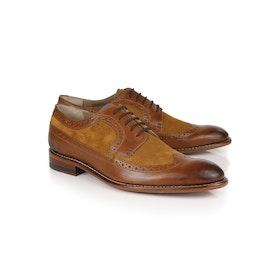 Oliver Sweeney London Endellion Brogue Dress Shoes - Tan