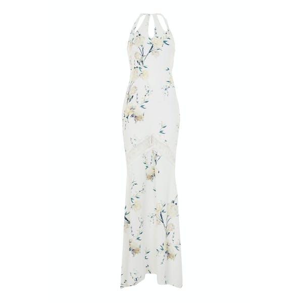 Hope & Ivy Keyhole Detail Fish Tail Maxi Dress