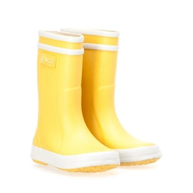 Stivali di Gomma Aigle Lolly Pop - Yellow White
