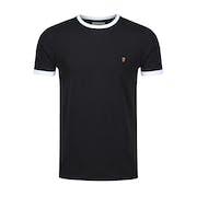Farah Groves Ringer Slim Fit Men's Short Sleeve T-Shirt