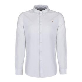 Farah Brewer Slim Fit Oxford Men's Shirt - White
