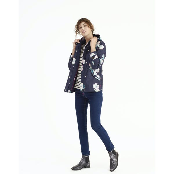 Joules Coast Print Women S Jacket Navy Poppy Country