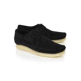 Clarks Originals Weaver Dress Shoes - Black Suede