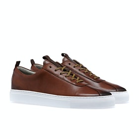 Grenson Sneaker 1 Shoes - Tan Hand Painted