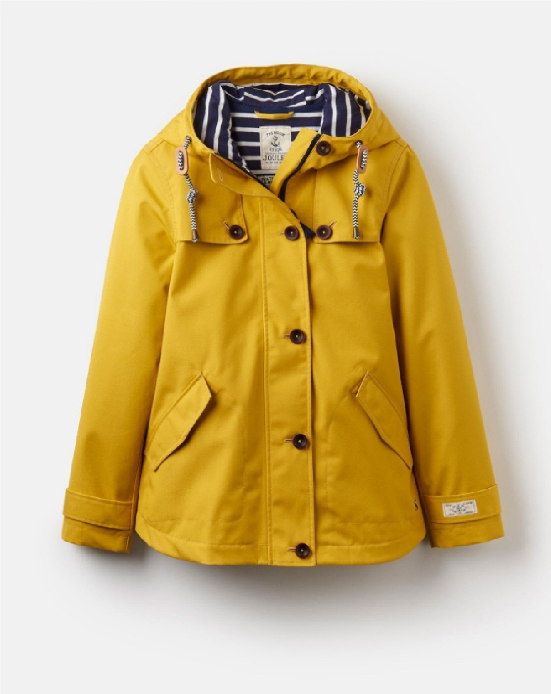 Joules Coast Waterproof Hooded Womens Jacket Coat Antique Gold All Sizes