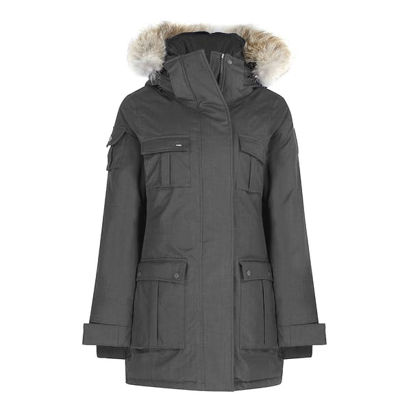 newest 61cc6 15044 Nobis Cindy with Removable Hood Damen Jacke - Steel Grey ...
