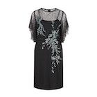 Hope & Ivy Dotty Mesh Angel Sleeve Embellished Kleid