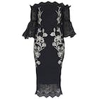 Hope & Ivy Lace Off The Shoulderwith Embroidery and Bell Sleeves Dress