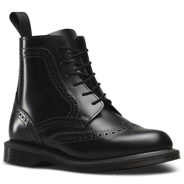 varastossa ilmainen toimitus ostaa Dr Martens Delphine Smooth Brogue Women's Boots - Black ...