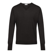 John Smedley Made In England Classic Bobby Merino Wool V Neck Men's Sweater