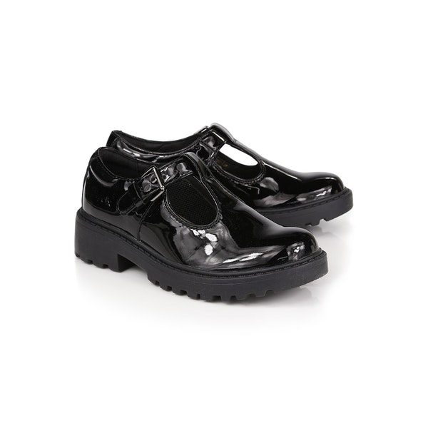 Geox Jr Casey Patent T Girl's Dress Shoes