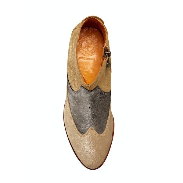Penelope Chilvers Lisbon Metallic Patchwork Short Women's Boots