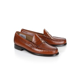 Dress Shoes GH Bass Weejuns Larson Penny Loafers - Mid Brown Leather