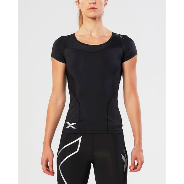 2XU Compression Short Sleeve Damen Funktionsunterwäsche Oberteil