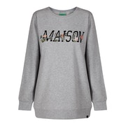 Maison Scotch Embroidered Logo Women's Sweater