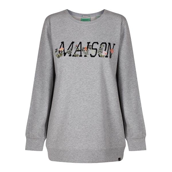 Maison Scotch Embroidered Logo Women's Sweater