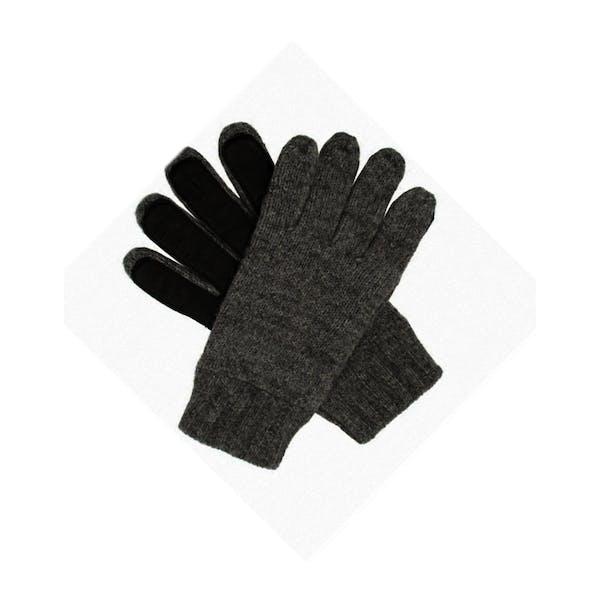 Dents Stirling Lambswool Knittedwith Leather Palm Patch Męskie Rękawiczki