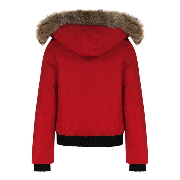 new styles 39d6b 5fe04 Nobis Harlow Bomber Style with Fur Trim Damen Jacke - Red ...