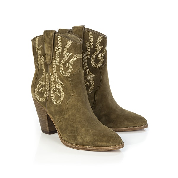 ASH Joe Baby Soft Embroidered Midi Women's Boots
