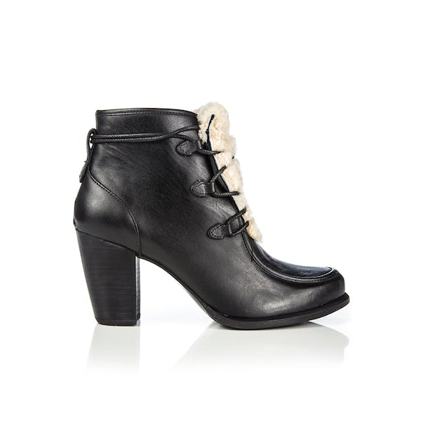 UGG Analise Exposed Fur Heeled Women's Boots