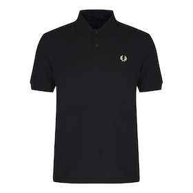 Fred Perry Re Issues Made In England Original M3 Men's Polo Shirt - Black Champagne