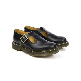 Dress Shoes Donna Dr Martens Polley Smooth - Black