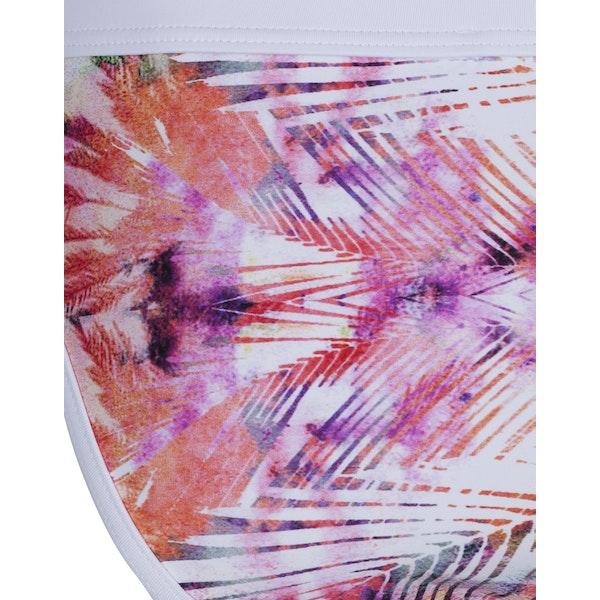 Lily and Lionel Vibrant Palm Print Brief Bikini underdeler