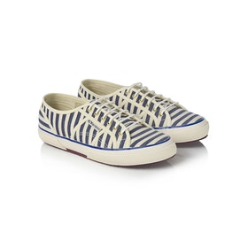 Scarpe Donna Maison Scotch Superga Classic Stripe - White Blue