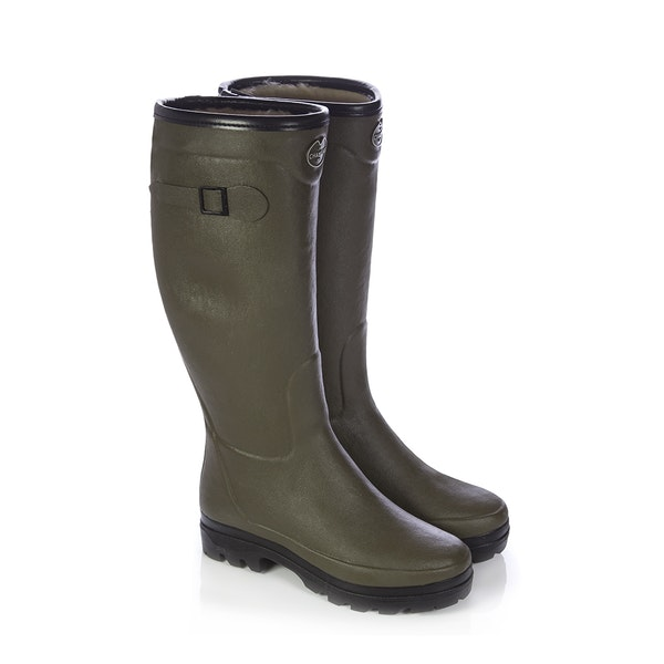 Botas de lluvia Mujer Le Chameau Country Wool Lined